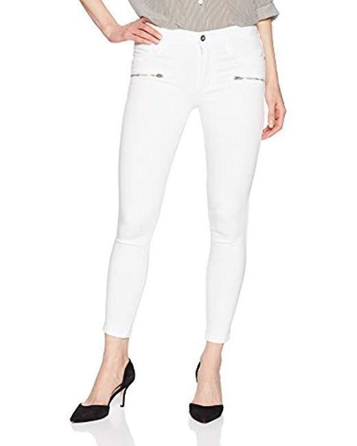 James Jeans - J Twiggy Front Zip Ankle Legging White Clean - Lyst