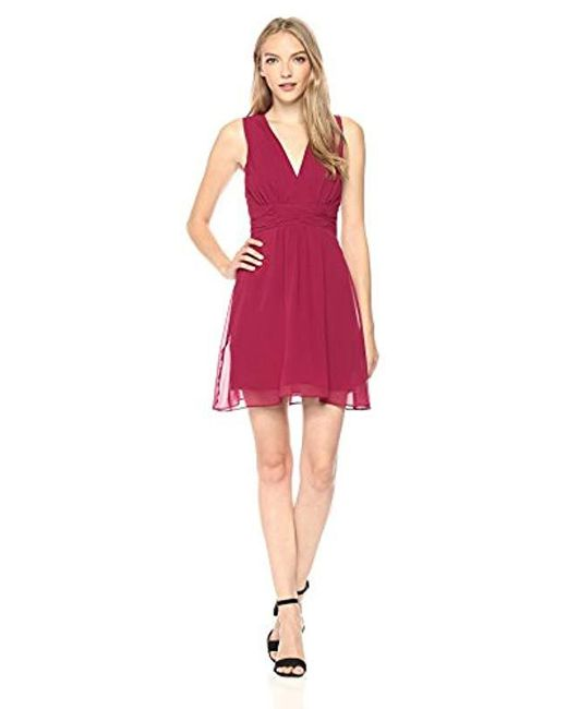 BCBGeneration - Red Vneck Dress - Lyst