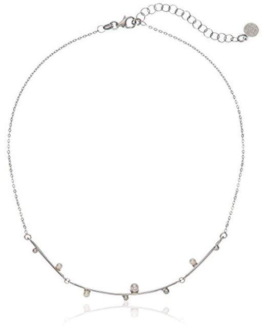 Majorica - White S Pearl Collar Chain Necklace - Lyst