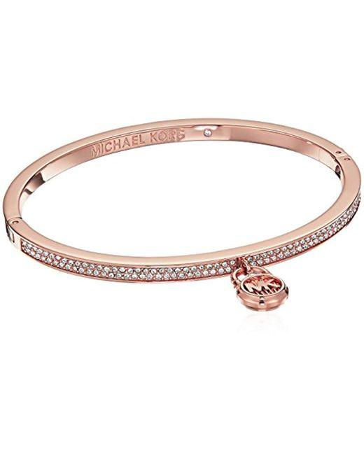 Michael Kors - Metallic S Steel & Pave Padlock Bracelet - Lyst