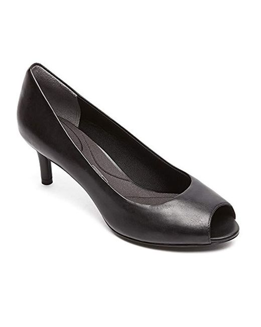 Rockport - Black Total Motion Finula Peep Toe - Lyst