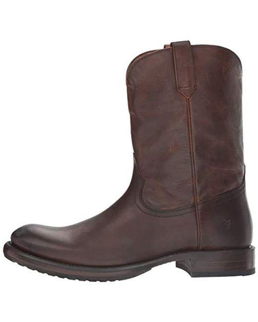 ff0a990053b Frye Brown Duke Roper Western Boot for men