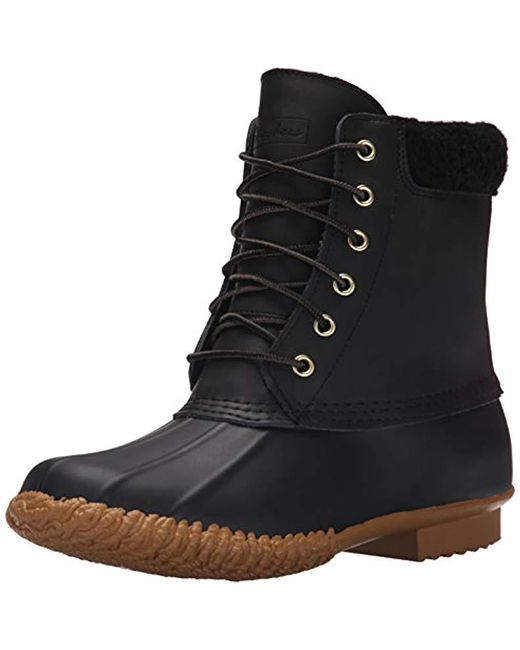 Lyst - Skechers Duck Snow Boot in Black - Save 6.185567010309285% 1847965f0
