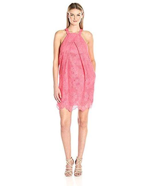 Trina Turk - Pink Felisha Pleated Front Halter Dress - Lyst