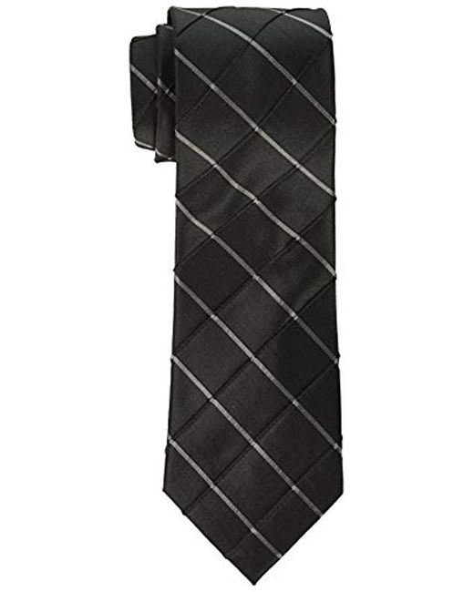 Calvin Klein - Black Waffle Windowpane Tie for Men - Lyst