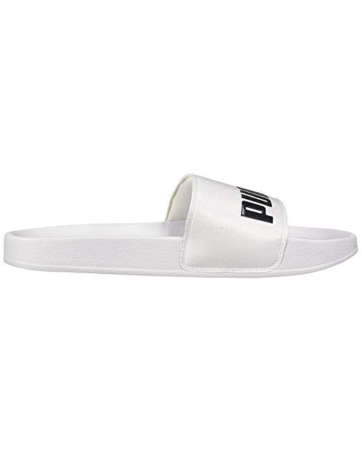 ... PUMA - White Leadcat Slide Sandal for Men - Lyst ... 9dcc669eb