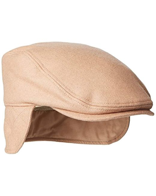 Dockers - Natural Solid Melton Hat With Fold-down Ear Flaps for Men - Lyst  ... d7184e13eb36