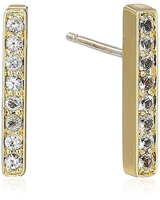 Elizabeth and James - Metallic Braque Bar Stud Earring, Gold - Lyst