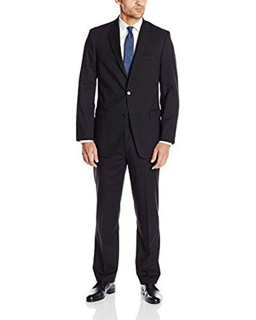 Tommy Hilfiger - Black Shadow Stripe 2 Button Side Vent Trim Fit Suit for Men - Lyst