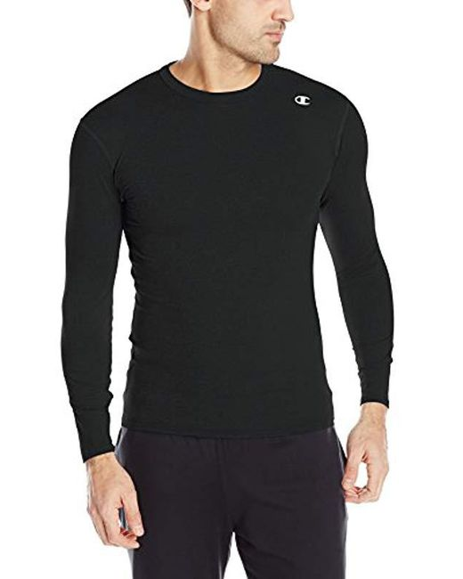 Champion - Black Double Dry Long Sleeve Compression Shirt for Men - Lyst