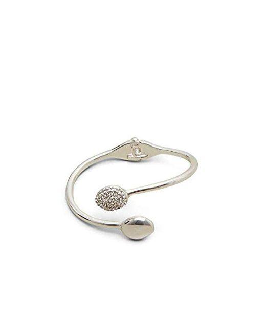 Kenneth Cole - Metallic Silver-tone Open Cuff Jeweled Bracelet - - Lyst