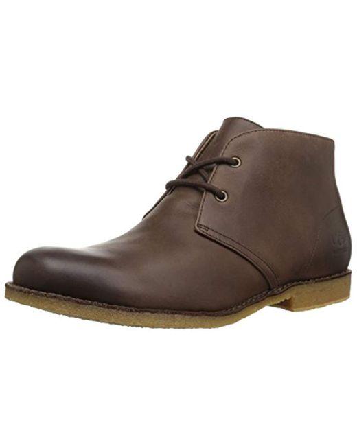 Ugg - Brown Leighton Waterproof Chukka Boot for Men - Lyst