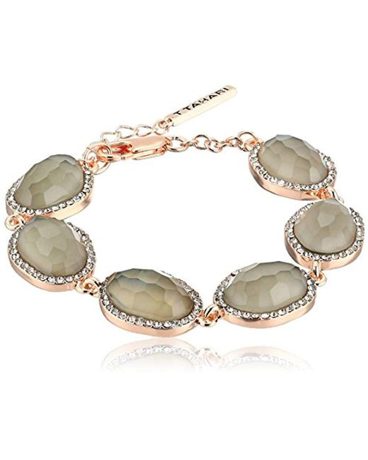 T Tahari - Metallic Mystic Sands Link Bracelet With Stones, Rose Gold, One Size - Lyst