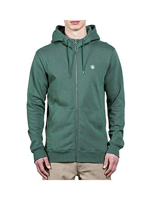 Volcom - Green Single Stone Zip Up Fleece, for Men - Lyst