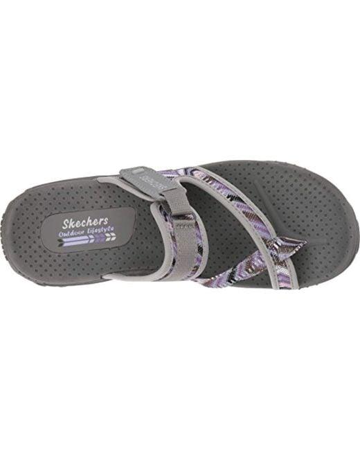 49efbbf27932 ... Skechers - Gray Reggae-Sparkle Swag-toe Thong Sandal With Webbing -  Lyst ...