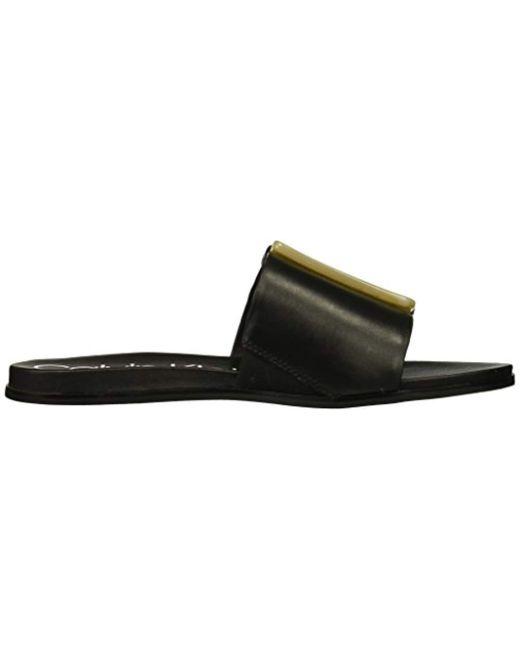 e1e570077e63 Lyst - Calvin Klein Patreece Slide Sandal in Black - Save 50%