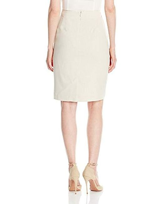 49b138236 ... Jones New York - Natural Washable Suiting Pencil Skirt - Lyst
