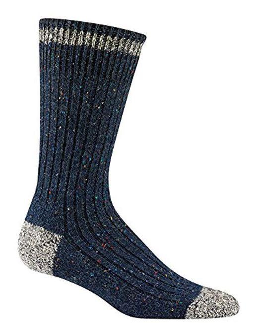 Wigwam - Blue Fireside Authentic Classic Retro Fashion Crew Sock for Men - Lyst