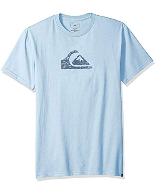 Quiksilver - Blue Comp Logo Tee for Men - Lyst