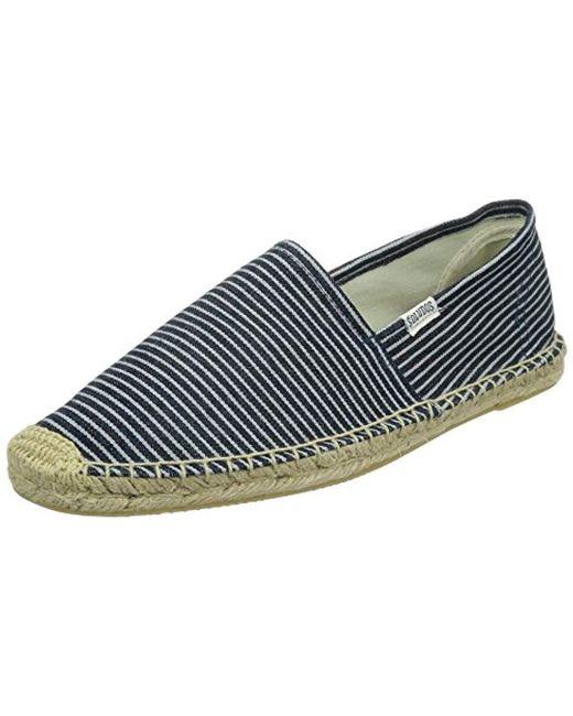 Soludos - Blue Original Classic Stripe Sandal for Men - Lyst
