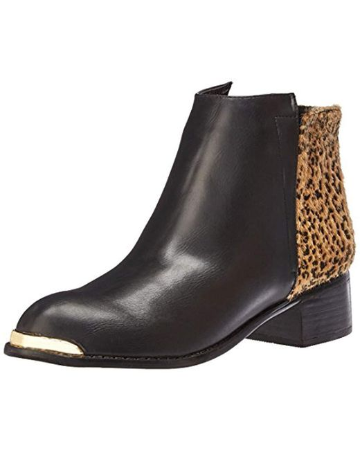 N.y.l.a. - Black Melrose Ankle Bootie - Lyst