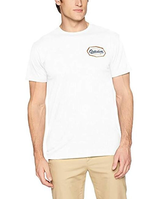 Quiksilver - White Live On The Edge Tee Shirt for Men - Lyst