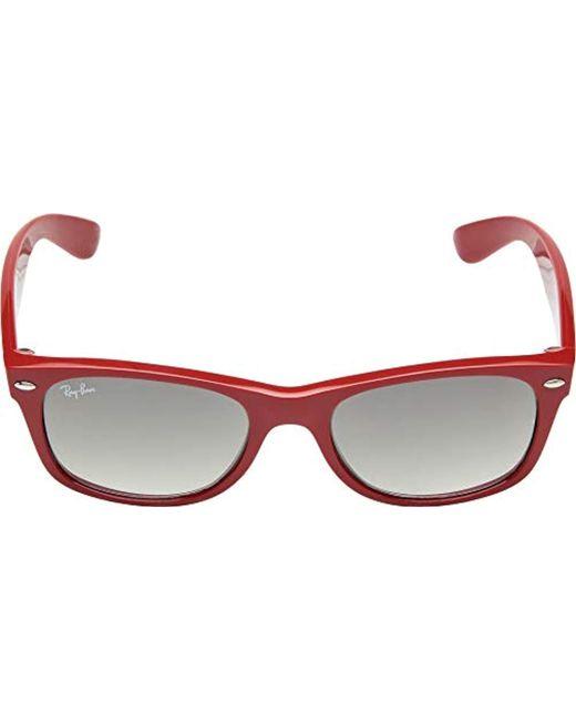 6287afa331219 ... shop ray ban red rb2132 new wayfarer sunglasses unisex lyst 30706 a48f6