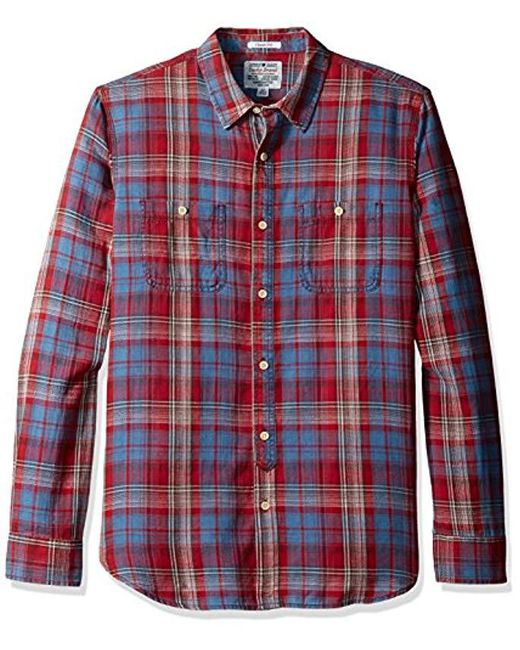Lucky Brand - Red Mason Work Wear Shirt for Men - Lyst