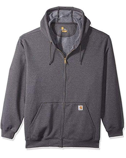 39fa7a013 Men's Gray Big And Tall Big & Tall Midweight Zip Front Hooded Sweatshirt  K122