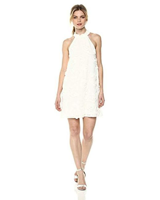 BCBGeneration - White Elasticated Neck A-line Dress - Lyst