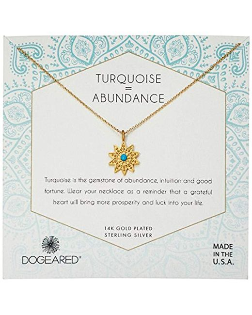 Dogeared - Metallic Gold Turquoise Sun Chain Necklace - Lyst