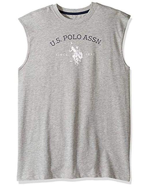 U.S. POLO ASSN. - Gray Classic Muscle T-shirt for Men - Lyst