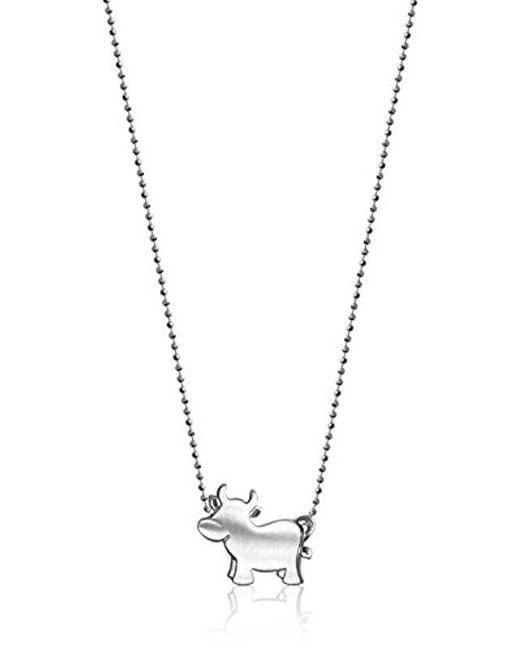 "Alex Woo - Metallic ""little Signs Animals"" Ox Pendant Necklace - Lyst"