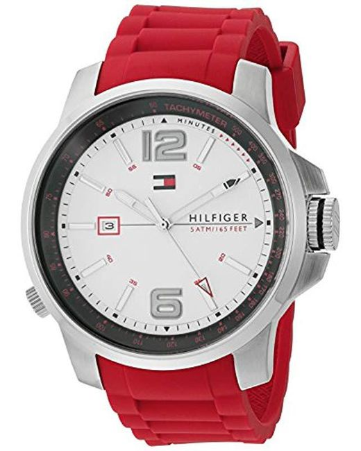 Tommy Hilfiger - Multicolor 1791219 Cool Sport Analog Display Japanese Quartz Red Watch for Men - Lyst