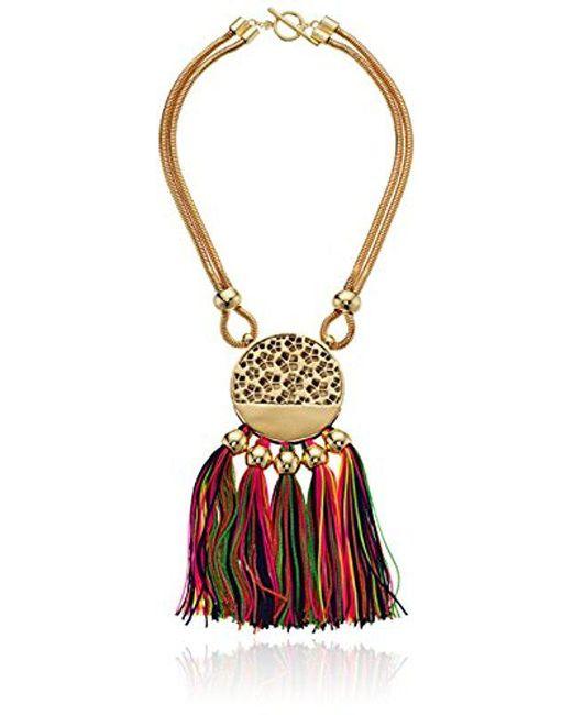 "Trina Turk - Metallic Mojito Nights Open Lariat Y-shaped Necklace, 20"" - Lyst"
