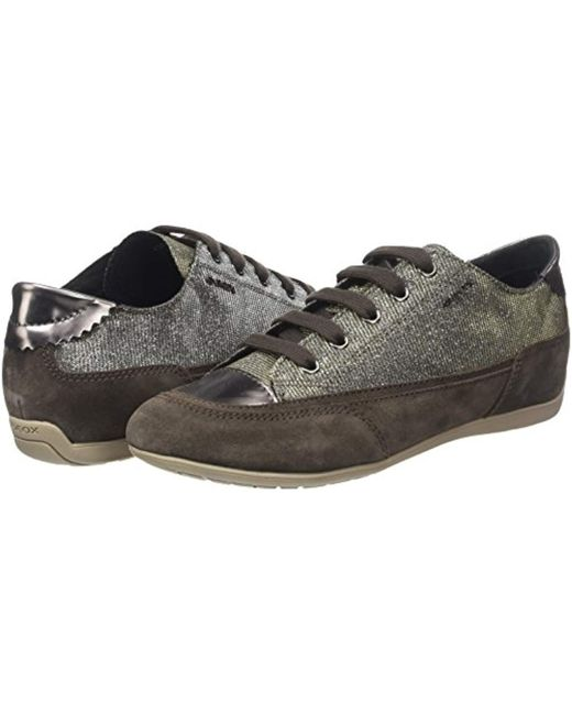 Geox D New Moena D Trainers in Brown Lyst