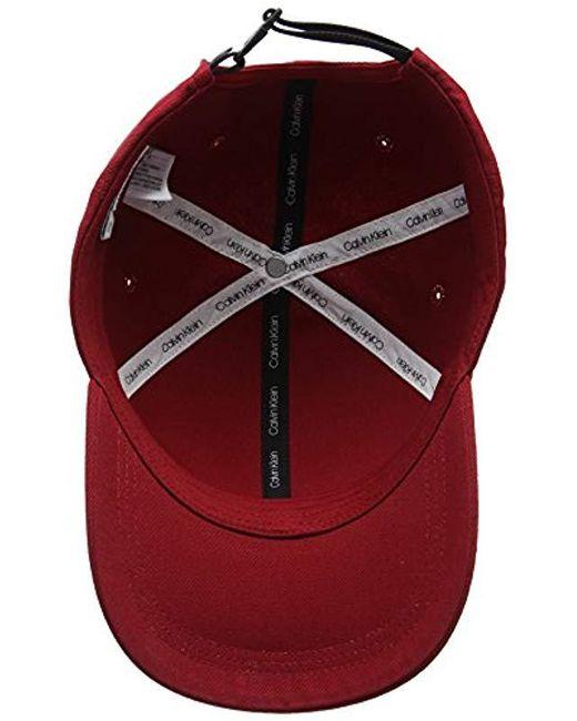 b4fbc15227e ... Calvin Klein - Red Ck Metallic Baseball Cap M for Men - Lyst