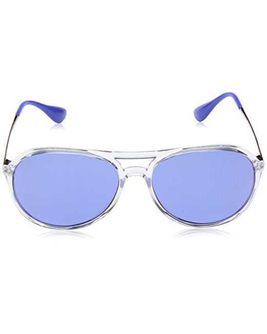 09d9cfd07e ... Ray-Ban - Multicolor Youngster Rubber Aviator Sunglasses for Men - Lyst  ...