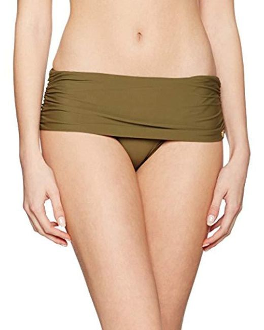 Calvin Klein - Green Classic Foldover Bikini Bottoms - Lyst