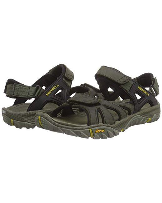 71499825d66b ... Merrell - Green  s All Out Blaze Sieve Convert Hiking Sandals for Men  ...