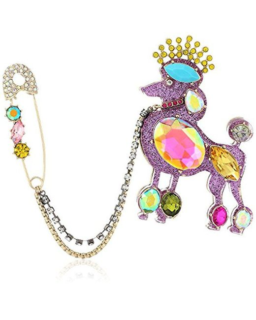 Betsey Johnson - Multicolor S Multi Poodle Pin - Lyst