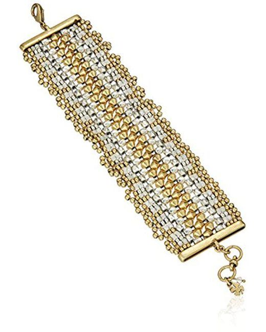 Lucky Brand - Metallic Beaded Bracelet - Lyst