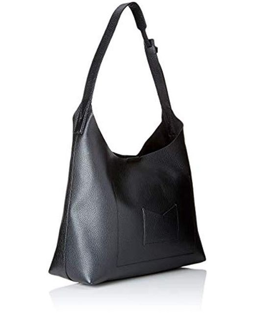 729d15fab7 ... Michael Kors - Medium Junie Pebbled Black Leather Shoulder Bag - Lyst  ...