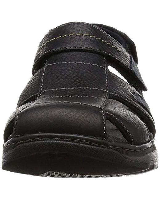 5a7f6536612c ... Clarks - Black Raffe Bay Sandals for Men - Lyst ...