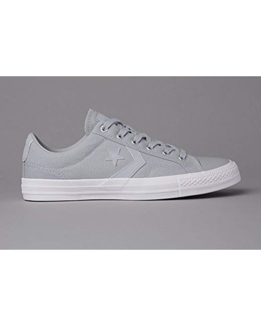 66785017c1a0 ... Lyst Converse - Gray Unisex Adults  Star Player Ox Almost White black  Trainers ...