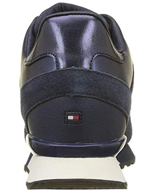 b78b1c6003 ... Tommy Hilfiger - Blue Camo Metallic Wedge Sneaker Low-top - Lyst ...