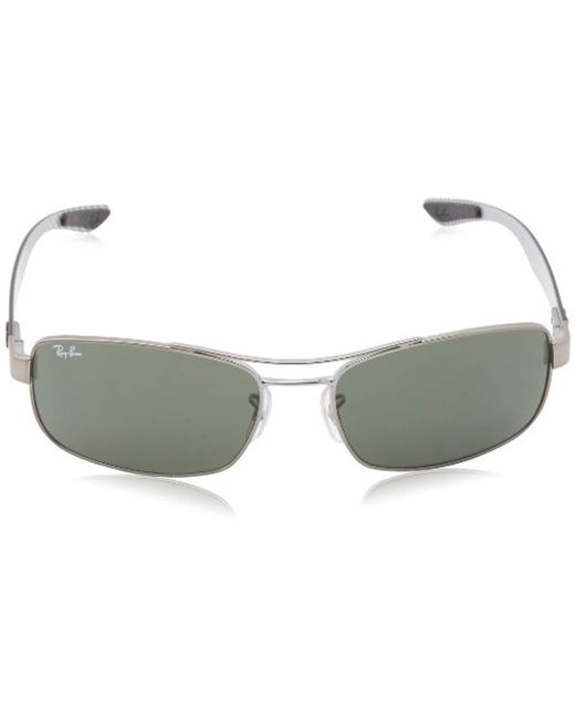 083553469c ... Ray-Ban - Tech Carbon Fibre Rectangle Sunglasses In Black Crystal Green  Polarised Rb8316 002 ...