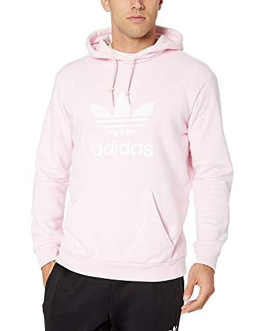 828672e027da Adidas Originals - Pink Trefoil Hoodie for Men - Lyst ...