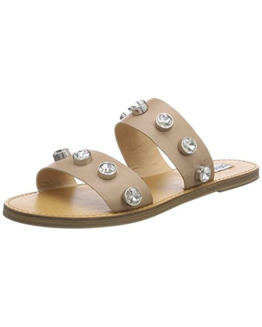 54527eb12053 Steve Madden - Natural Jessy Flat Sandal Open Toe - Lyst ...