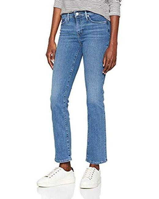 314 Shaping Straight Jean Droit Femme Levi's en coloris Blue